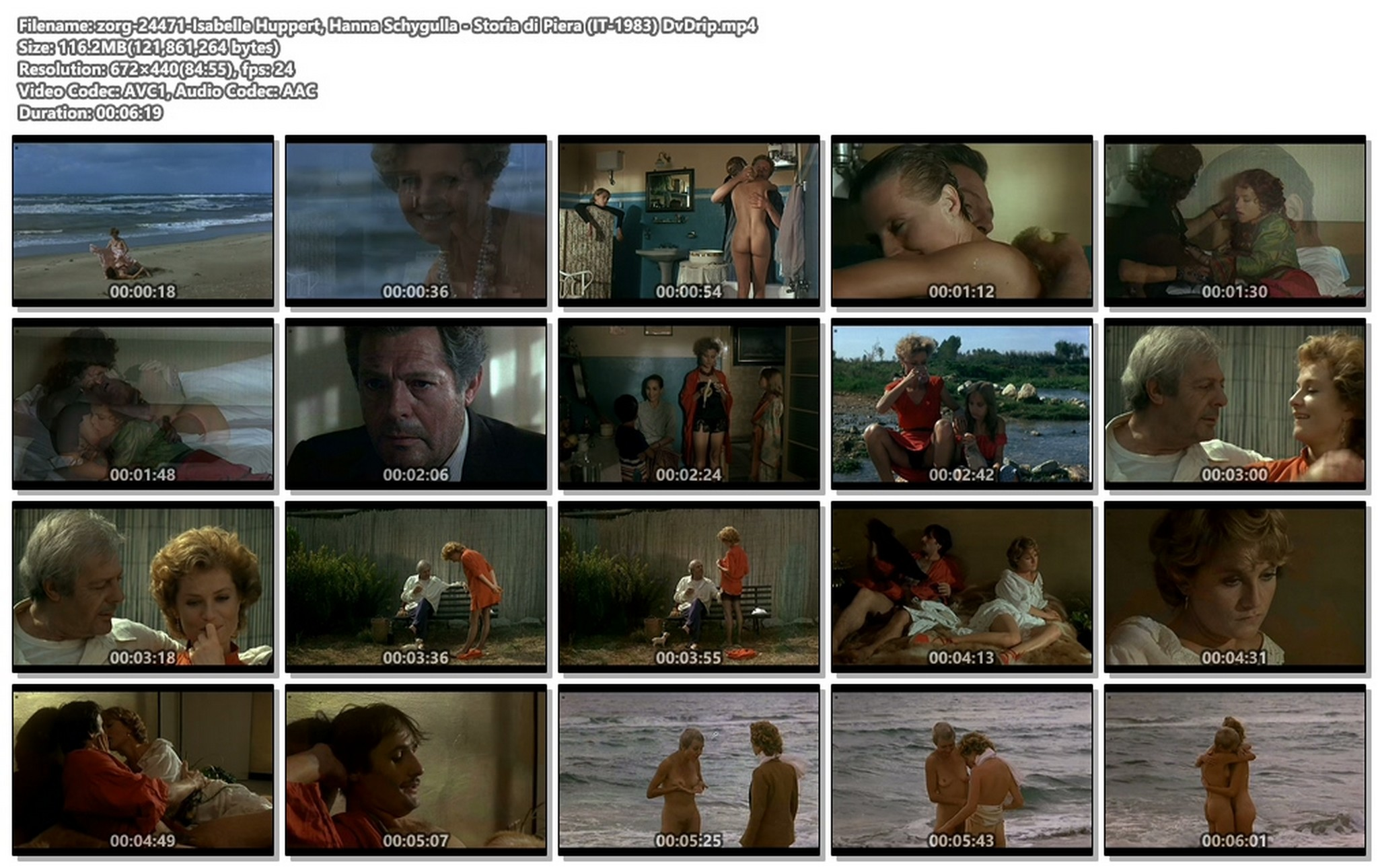 Isabelle Huppert nude full frontal and Hanna Schygulla nude bush Storia di Piera IT 1983 DvDrip 018