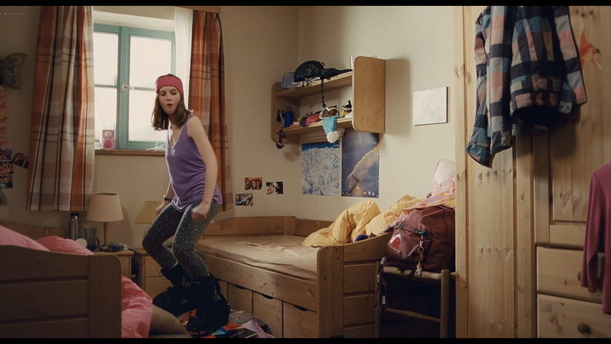 Felicity Jones nude covered Tamsin Egerton sexy Chalet Girl 2011 HD 1080p BluRay 005