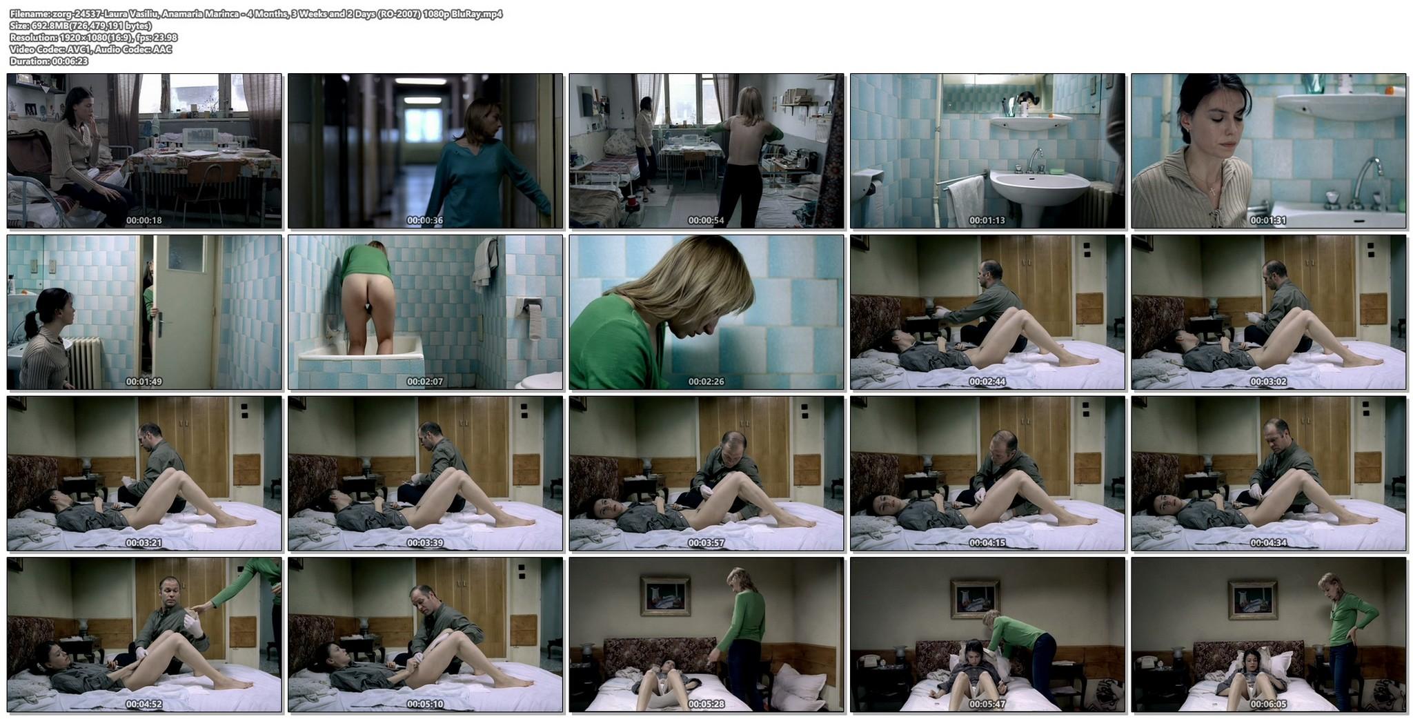 Laura Vasiliu nude bush Anamaria Marinca nude too 4 Months 3 Weeks and 2 Days RO 2007 1080p BluRay 012