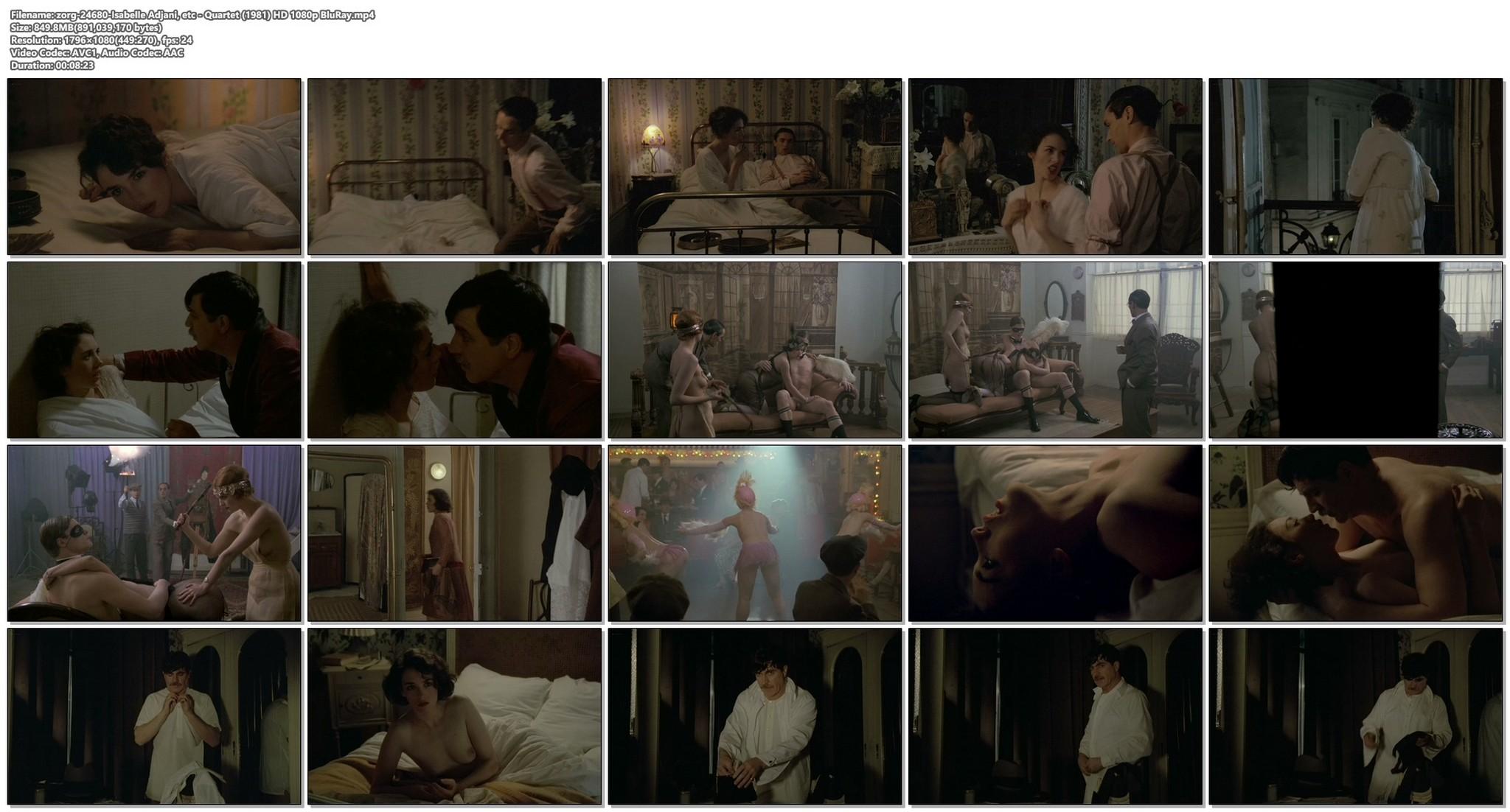 Isabelle Adjani nude topless Quartet 1981 HD 1080p BluRay 18