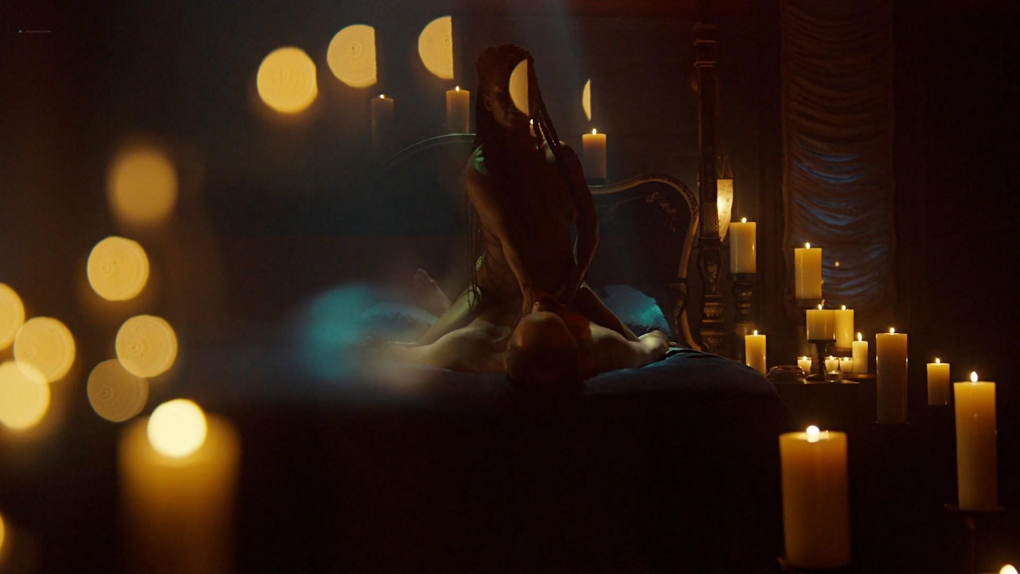 Yetide Badaki nude bush and topless American Gods 2020 s3e2 HD 1080p 03