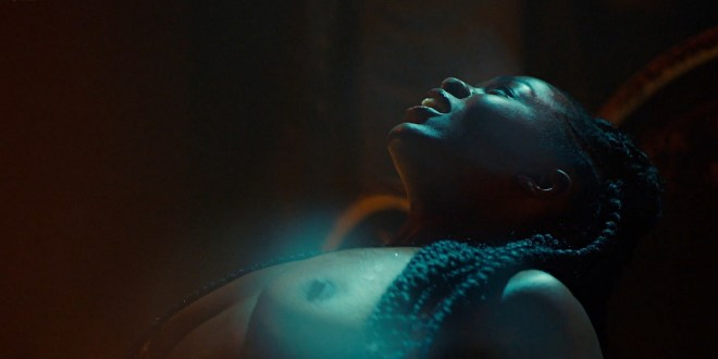 Yetide Badaki nude bush and topless American Gods 2020 s3e2 HD 1080p 11