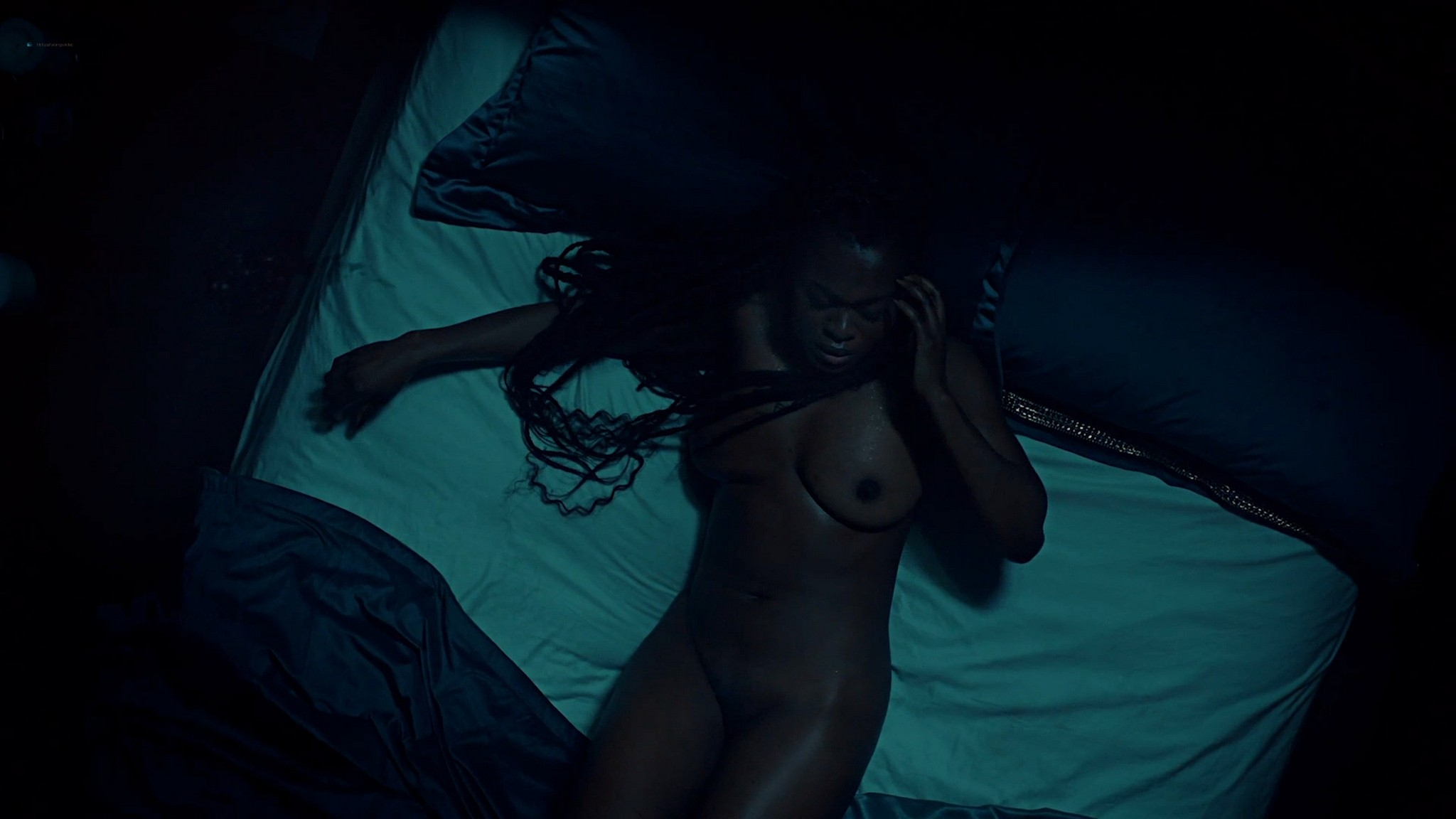 Yetide Badaki nude bush and topless American Gods 2020 s3e2 HD 1080p 12