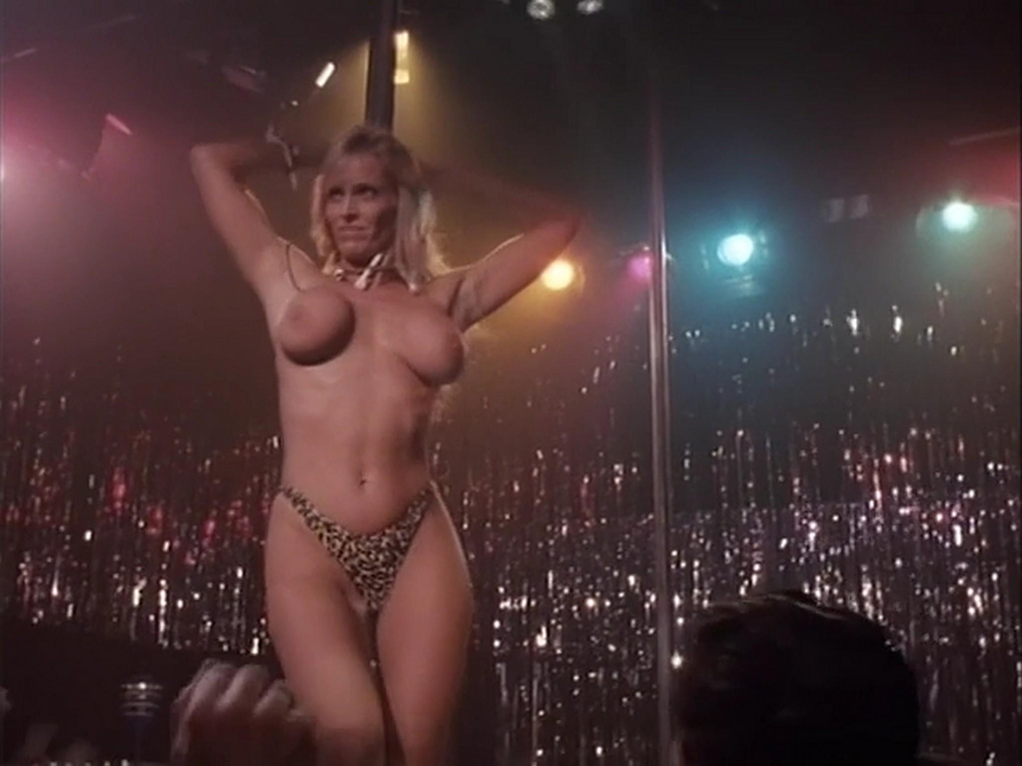 Barbara Alyn Woods nude Catya Sassoon Jill Pierce nude too as strippers Dance with Death 1991