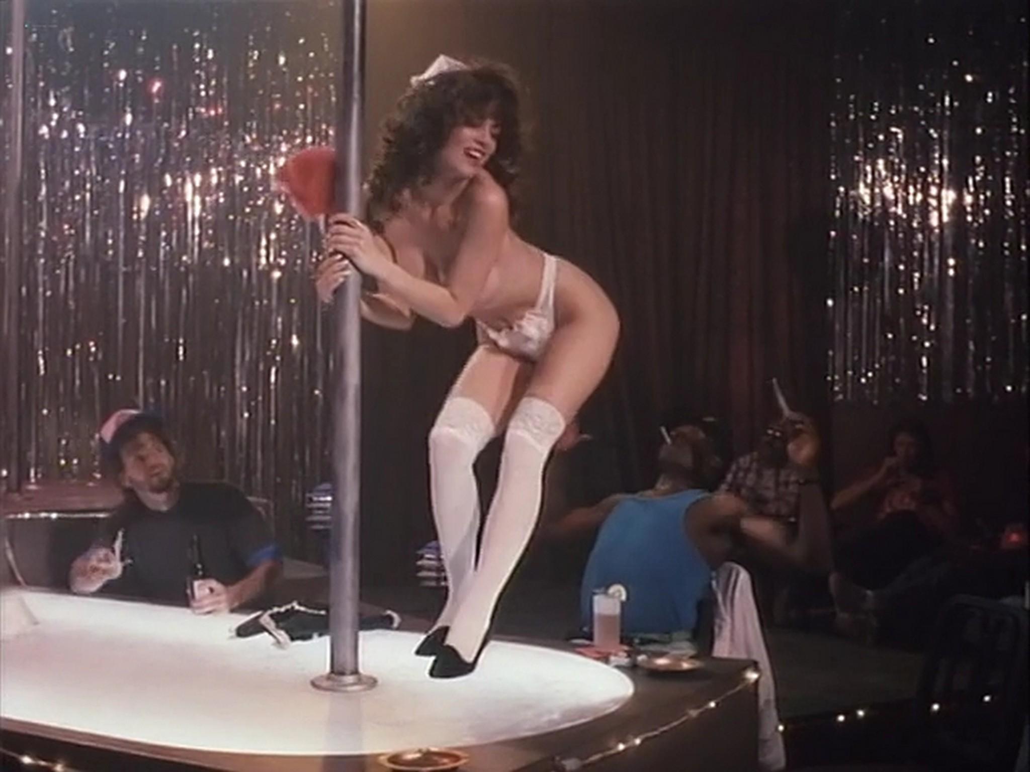 Barbara Alyn Woods nude Catya Sassoon Jill Pierce nude too as strippers Dance with Death 1991 15