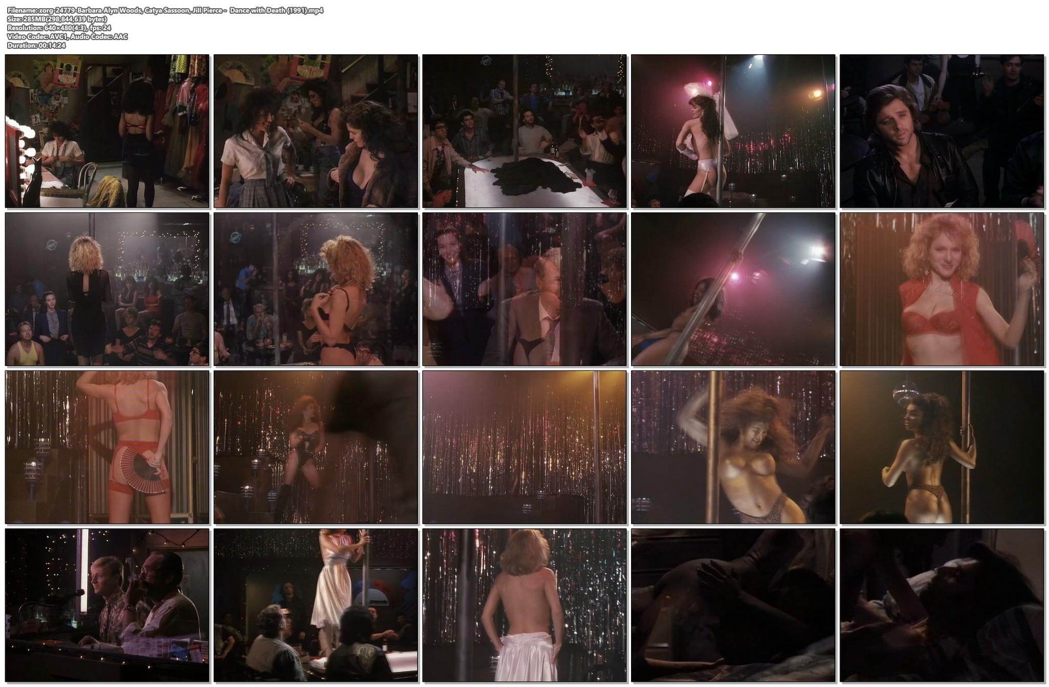 Barbara Alyn Woods nude Catya Sassoon Jill Pierce nude too as strippers Dance with Death 1991 20