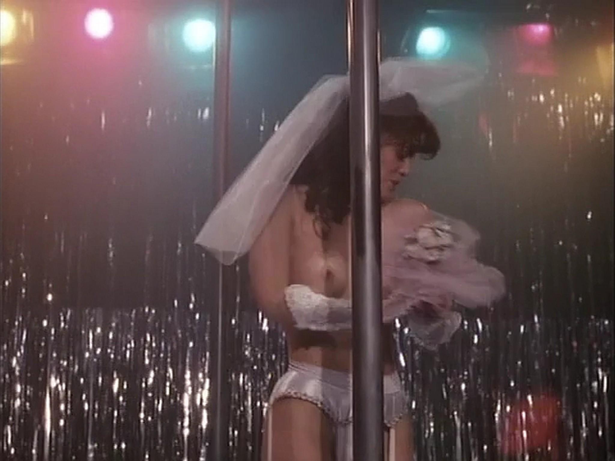 Barbara Alyn Woods nude Catya Sassoon Jill Pierce nude too as strippers Dance with Death 1991 3
