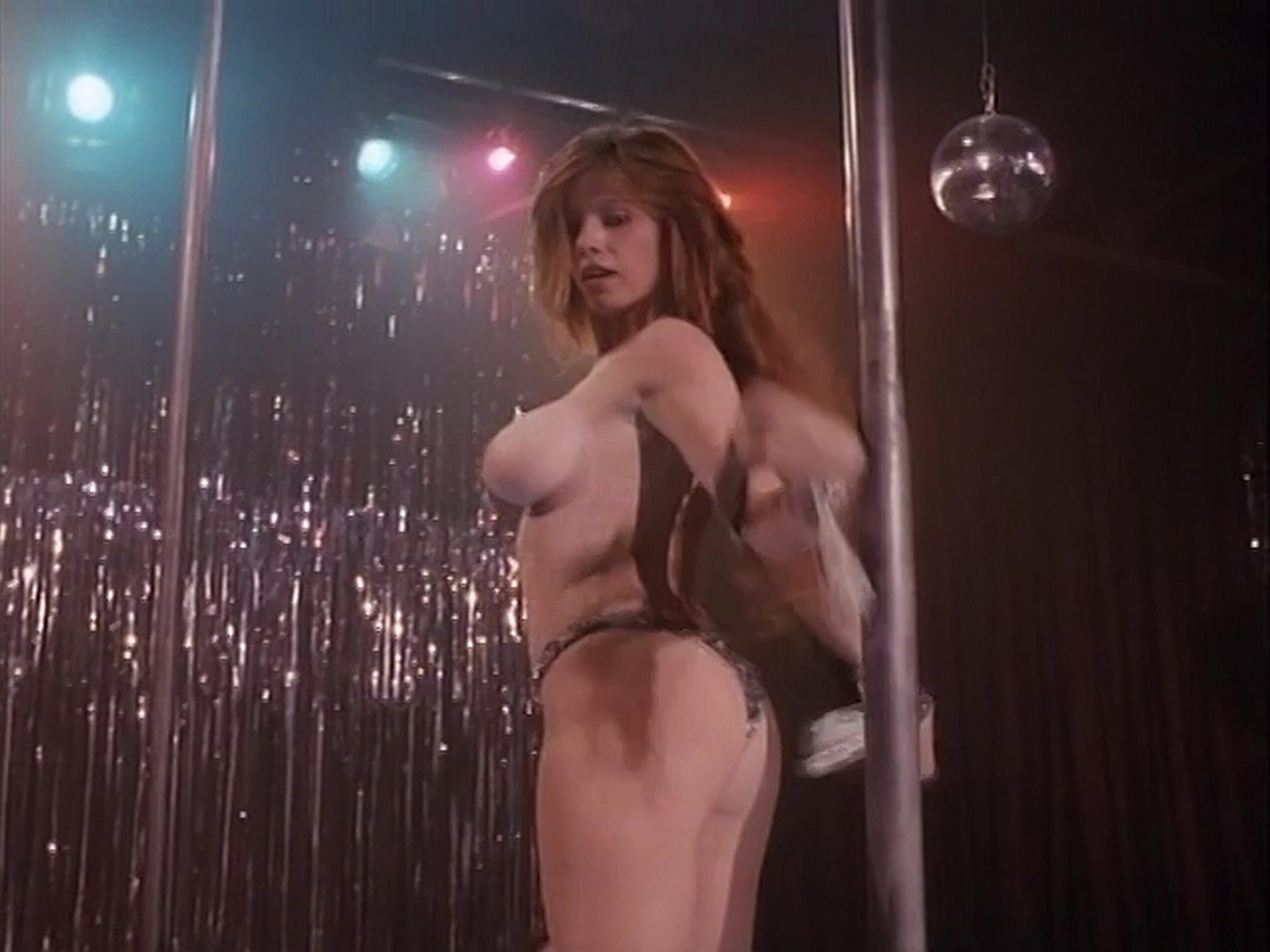 Barbara Alyn Woods nude Catya Sassoon Jill Pierce nude too as strippers Dance with Death 1991 6