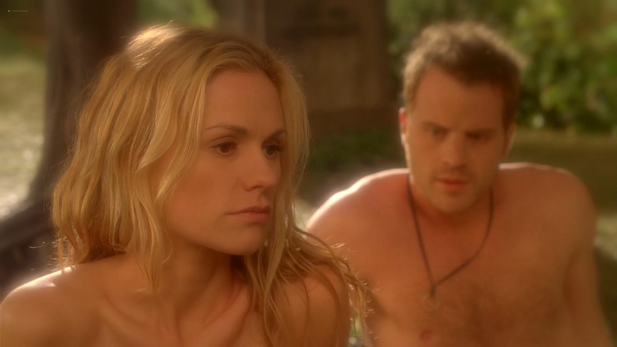 Anna Paquin nude topless and Deborah Ann Woll hot sex – True Blood 2013 s6e7 HD 1080p 5