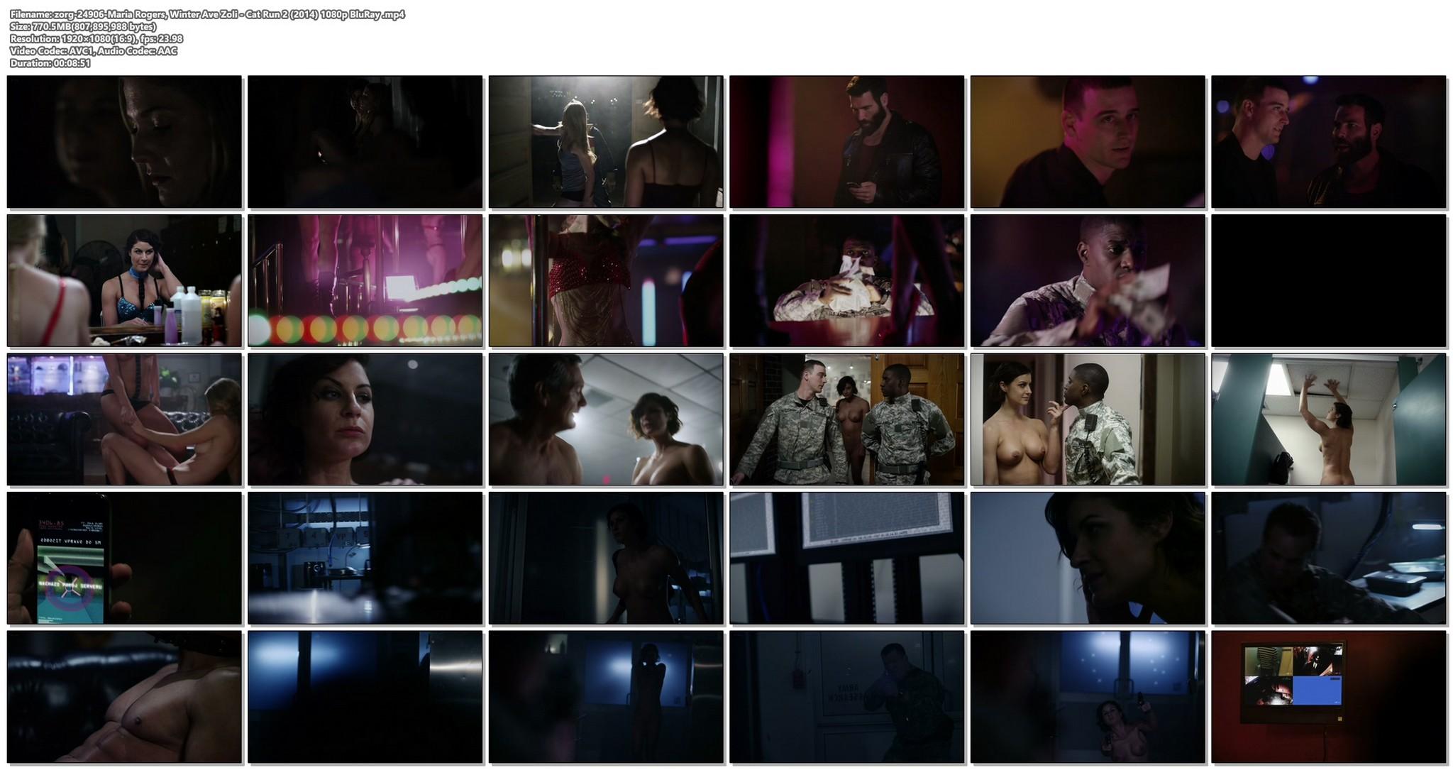 Maria Rogers nude full frontal Winter Ave Zoli nude topless Cat Run 2 2014 HD 1080p BluRay 17