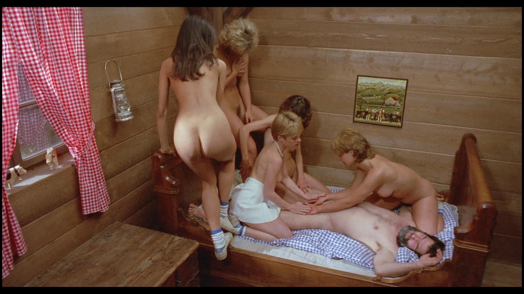 Marianne Aubert Michaela Larsen etc nude explicit sex Sechs Schwedinnen auf der Alm 1983 1080p BluRay 13