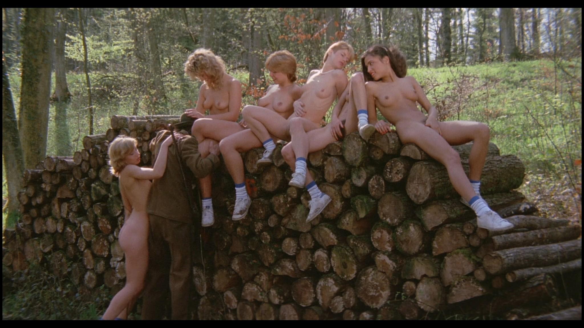Marianne Aubert Michaela Larsen etc nude explicit sex Sechs Schwedinnen auf der Alm 1983 1080p BluRay 14