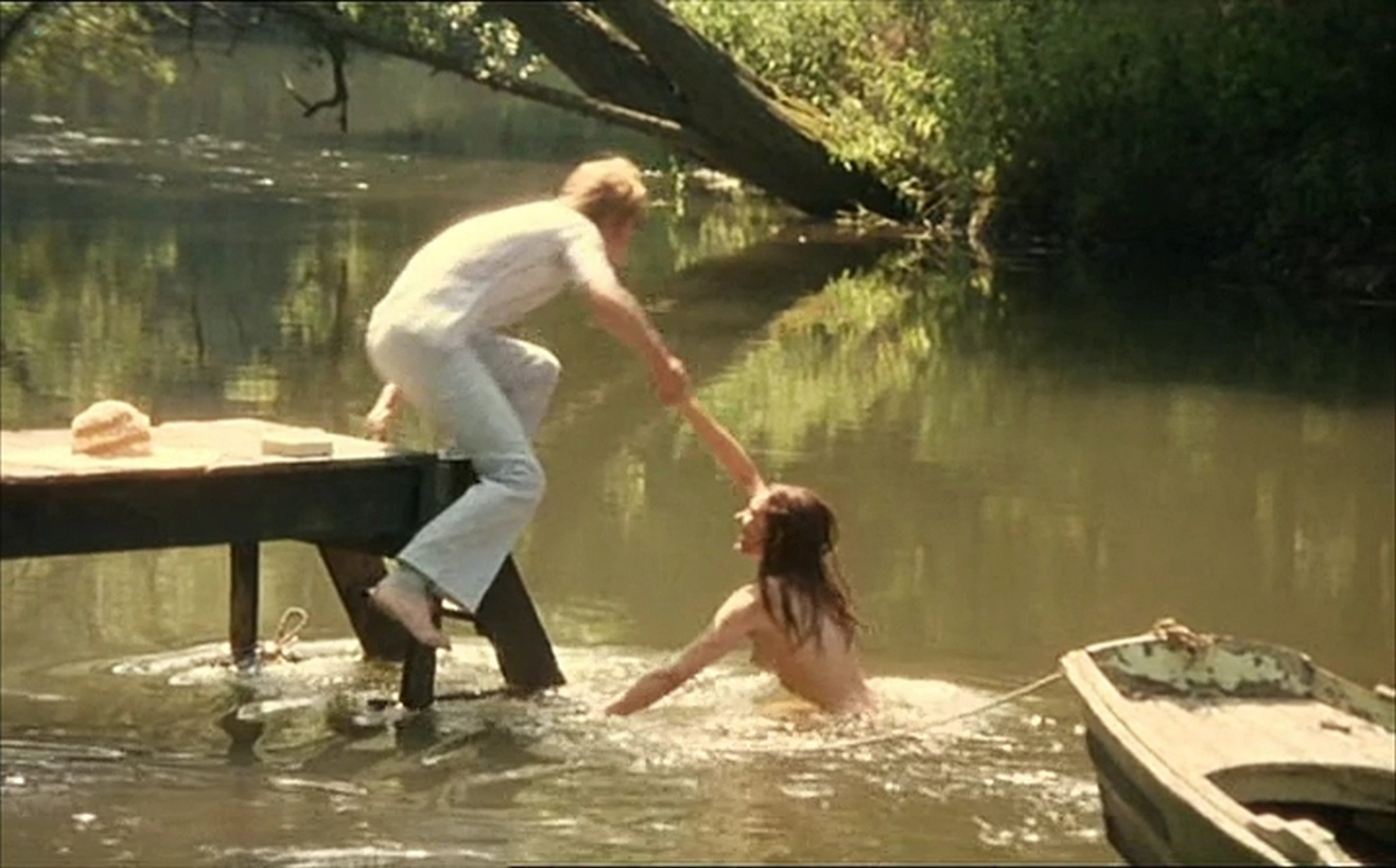 Muriel Catala nude topless and butt and Claire Vernet nude skinny dipping Faustine et le bel ete 1972 4