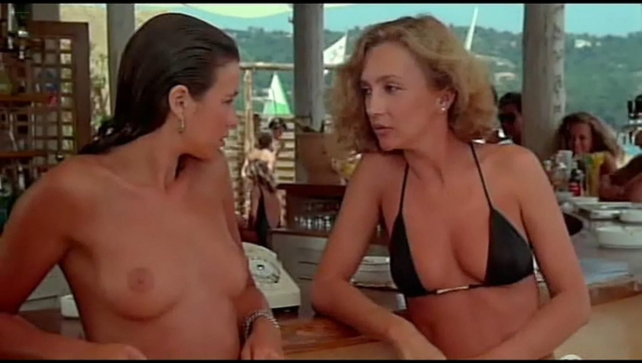 Valerie Kaprisky nude full frontal Caroline Cellier and others nude L annee des meduses 1984 10