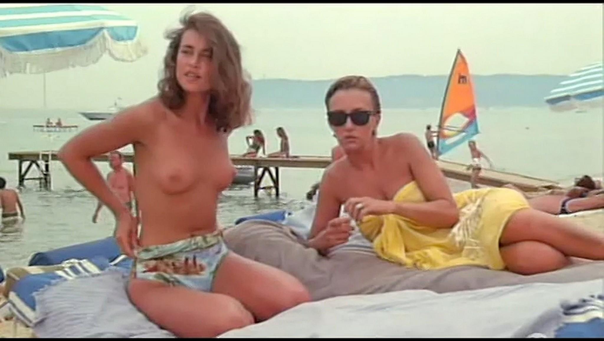 Valerie Kaprisky nude full frontal Caroline Cellier and others nude L annee des meduses 1984 2