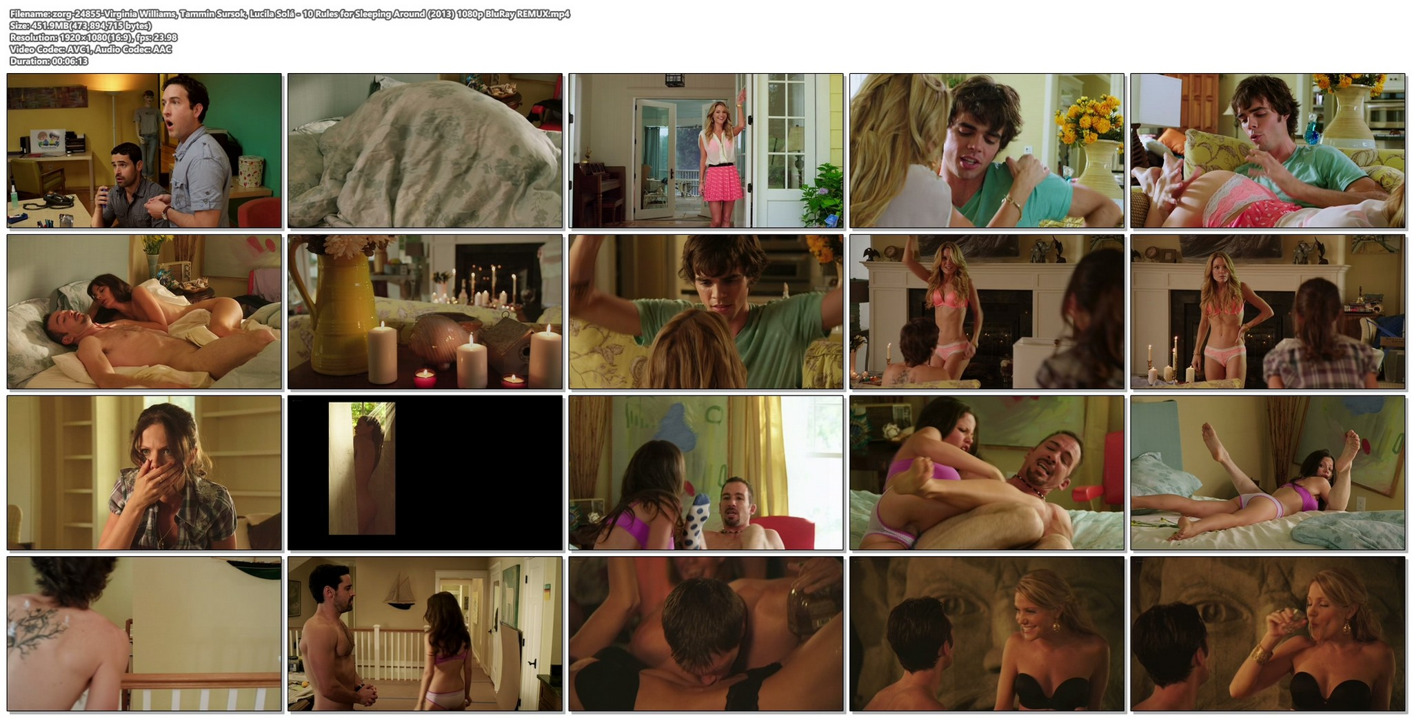 Virginia Williams hot Tammin Sursok Lucila Sola and others nude and sexy 10 Rules for Sleeping Around 2013 1080p BluRay REMUX 20