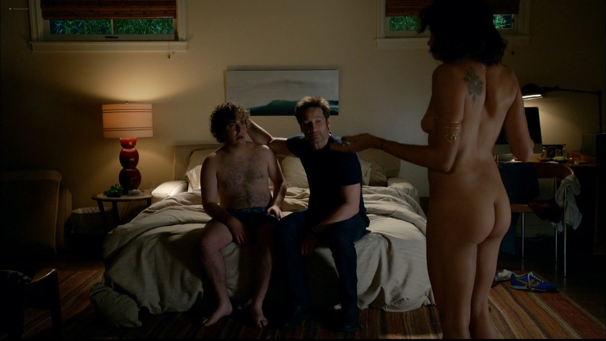 Brigette Davidovici nude butt and topless and Heather Graham hot Californication 2014 s7e5 e6 HD 1080p 4