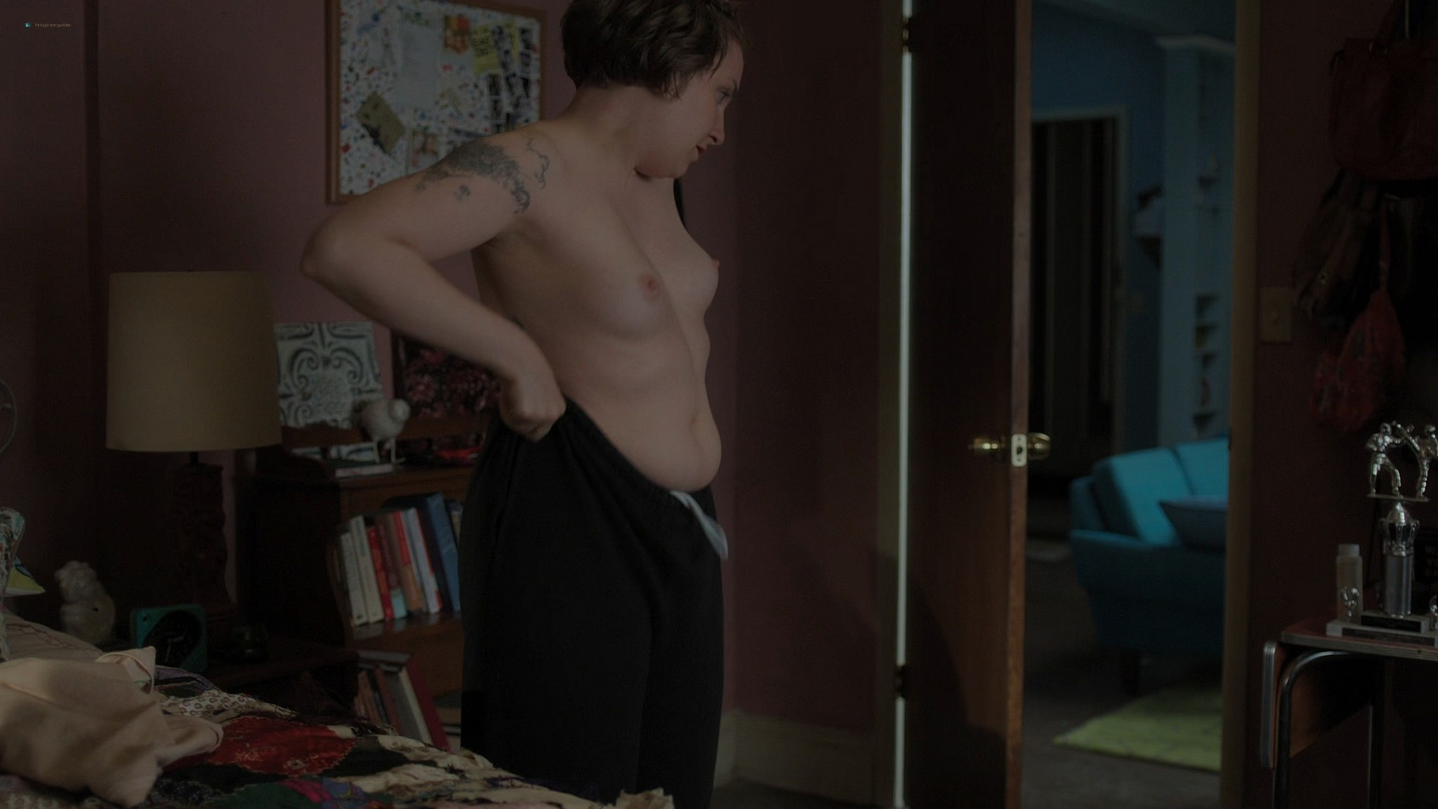 Gaby Hoffmann nude full frontal Allison Williams sex Lena Dunham nude Girls 2012 s3e1 5 1080p Web 11