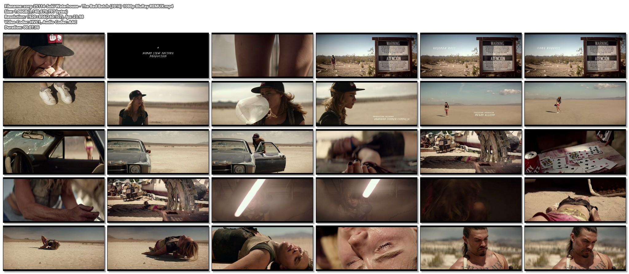 Suki Waterhouse sexy The Bad Batch 2016 1080p BluRay REMUX 18