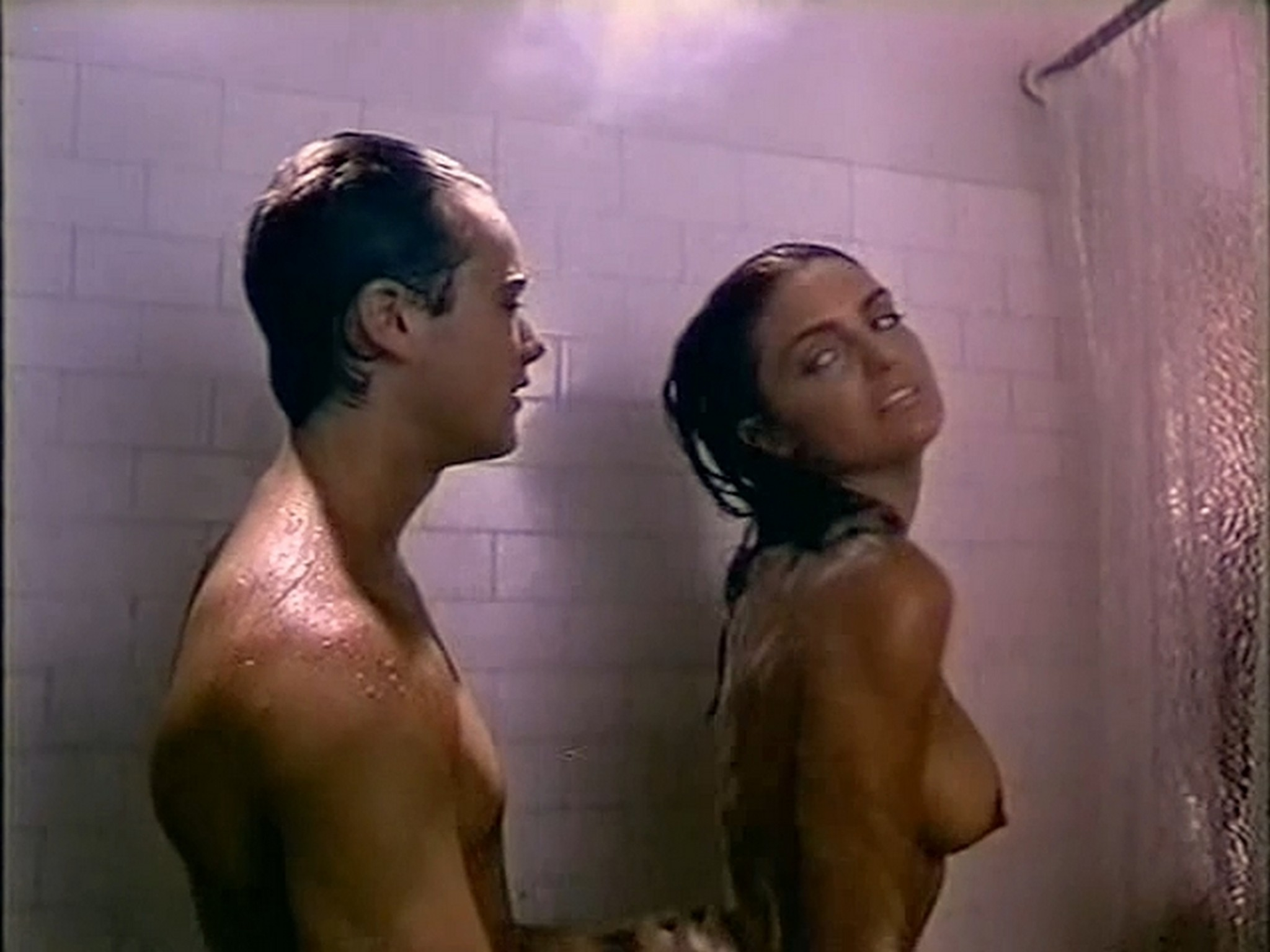 Tracy Scoggins nude in the shower The Gumshoe Kid 1990 DVDRip 8
