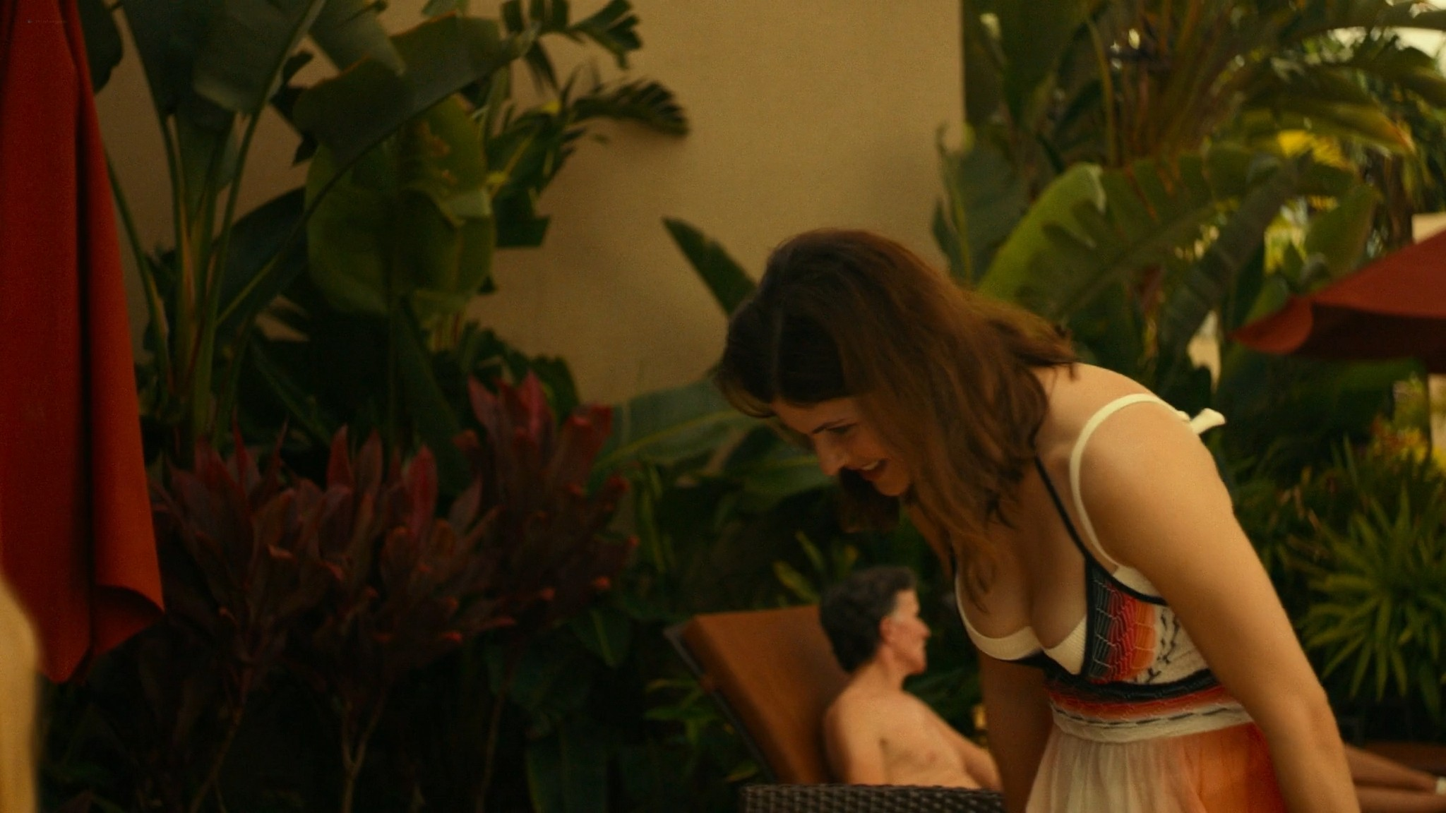 Alexandra Daddario nude side boob Sydney Sweeney Brittany OGrady hot The White Lotus 2011 s1e2 1080p Web 16