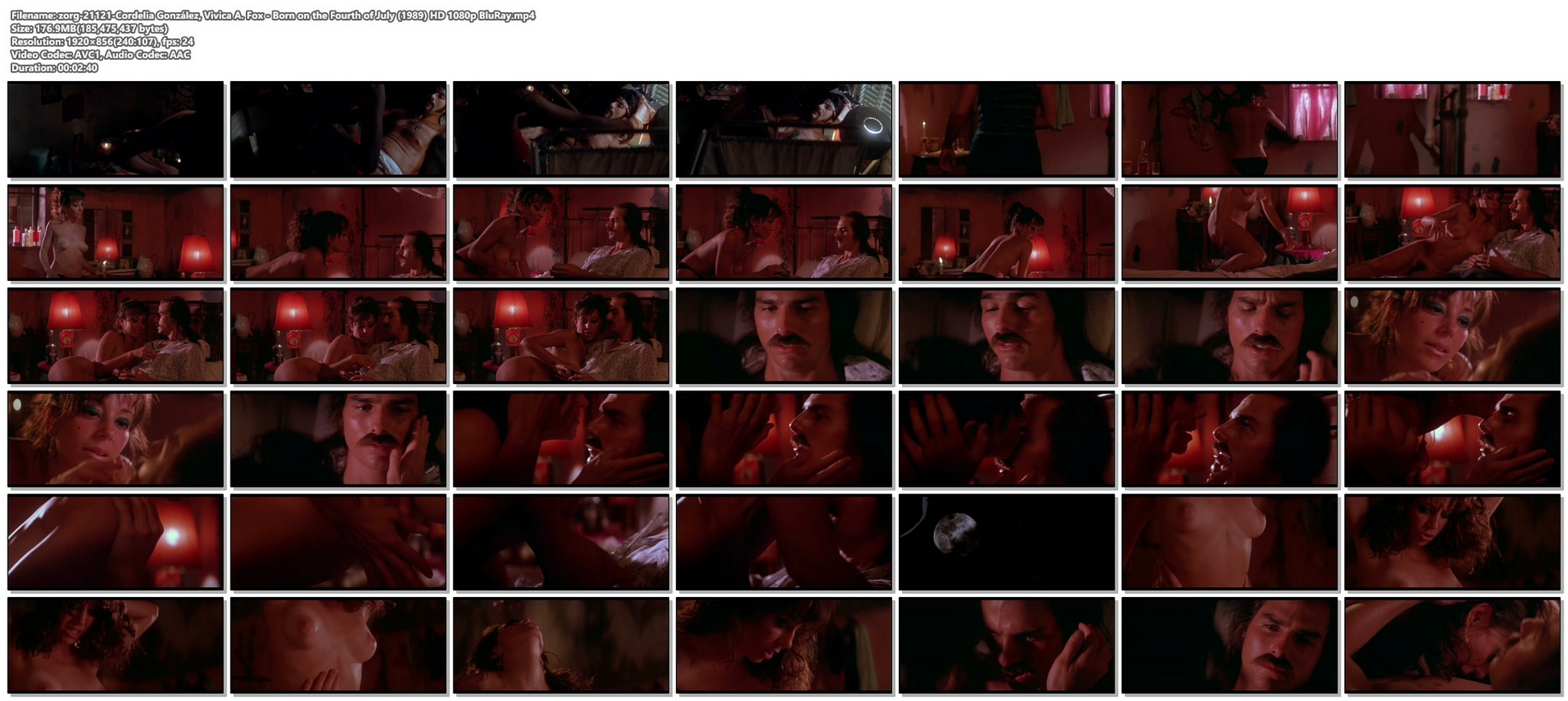 Cordelia Gonzalez nude topless and bush and Vivica A Fox side boob Born on the Fourth of July 1989 HD 1080p BluRay 12