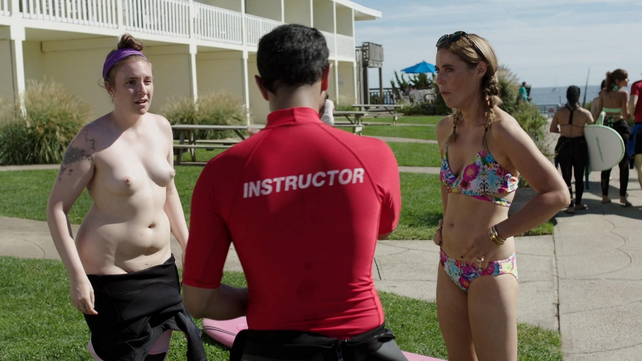 Jemima Kirke nude full frontal Lena Dunham Daisy Eagan nude Allison Williams sexy Girls 2012 s6e1 4 1080p Web 4