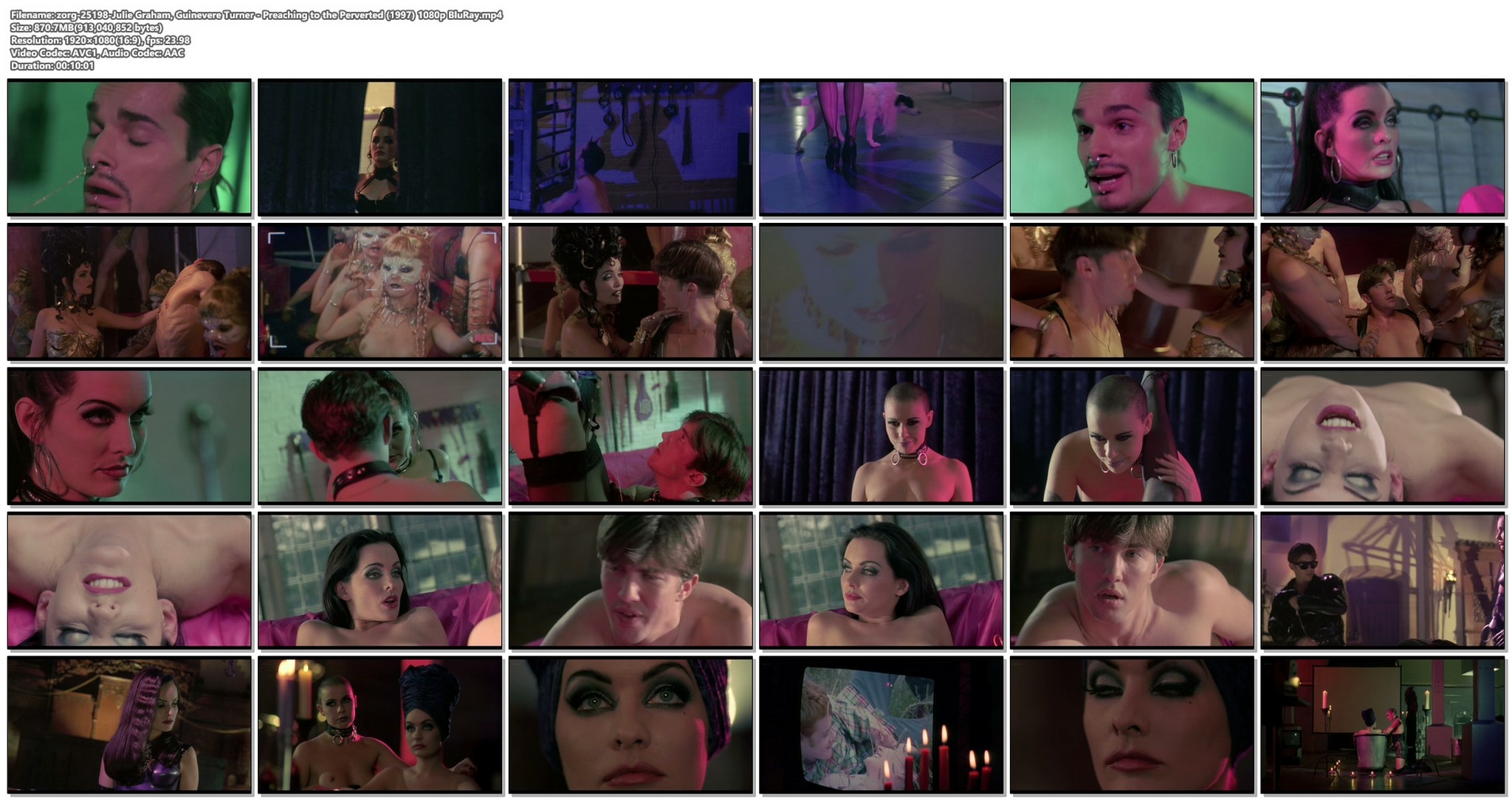 Julie Graham nude bush Guinevere Turner nude sex BDSM Preaching to the Perverted 1997 1080p BluRay 19