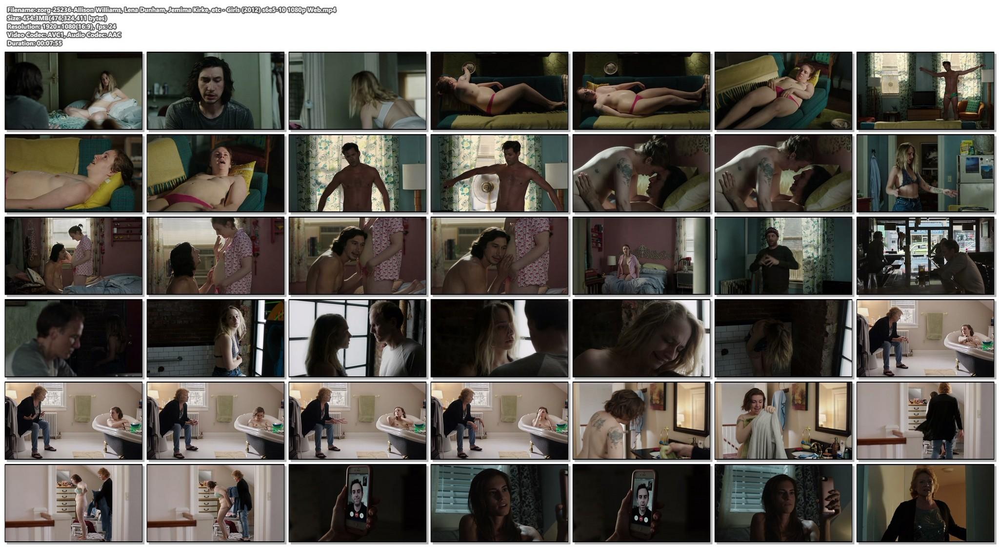 Lena Dunham nude bush Jemima Kirke nude Allison Williams sexy Girls 2012 s6e5 10 1080p Web 18
