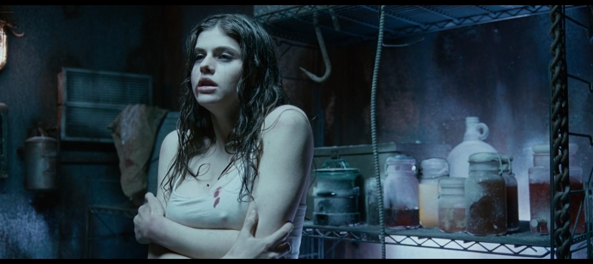 Alexandra Daddario hot sexy and see through from Bereavement 2010 HD 1080p BluRay 12