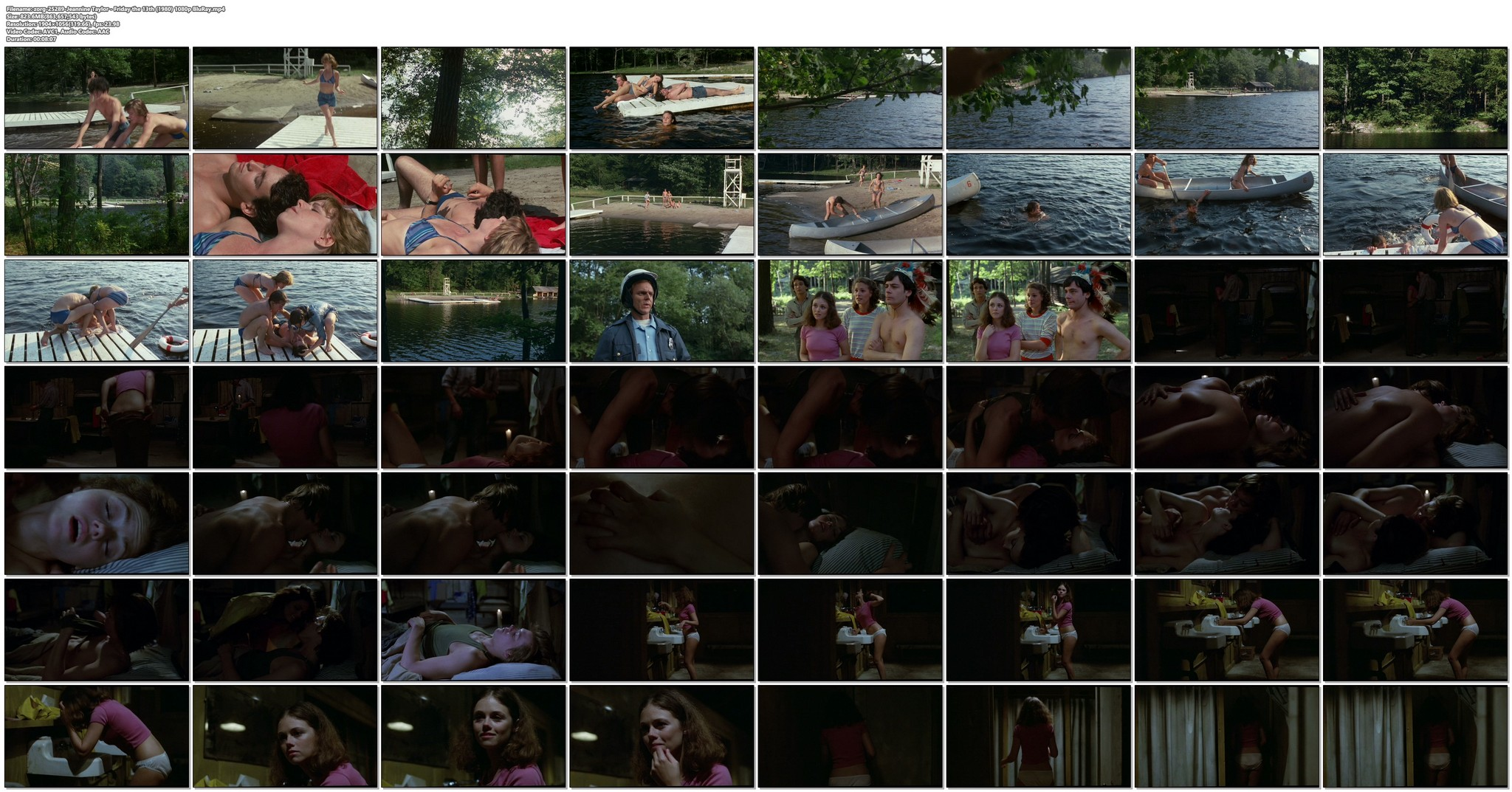 Jeannine Taylor nude topless and sex Friday the 13th 1980 1080p BluRay 13