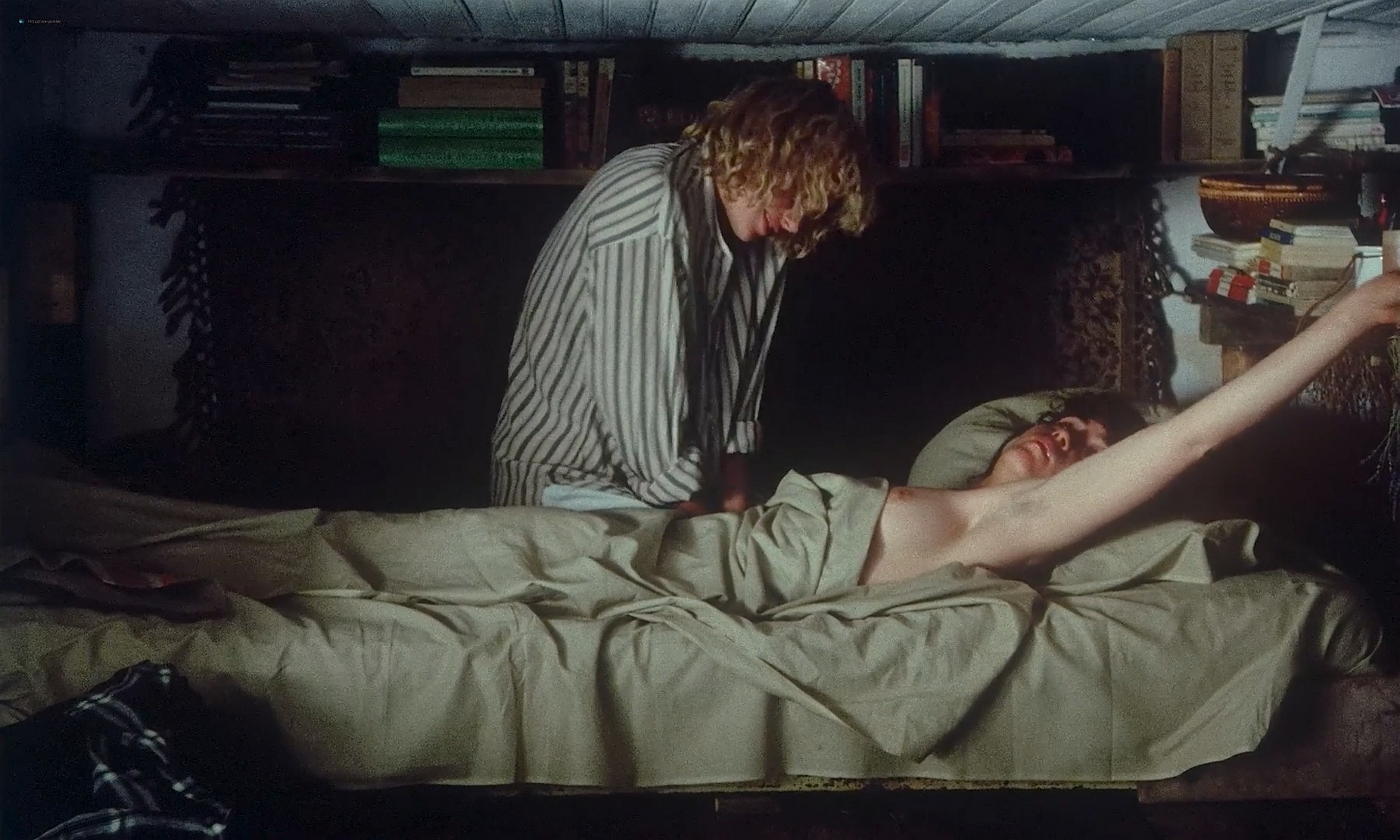Maria Schneider nude lesbian sex with Monique van de Ven Een vrouw als Eva NL 1979 1080p BluRay 11