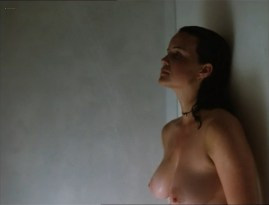 Carla Gugino nude topless butt Anna Levine and Rya Kihlstedt all nude- Jaded (1998)