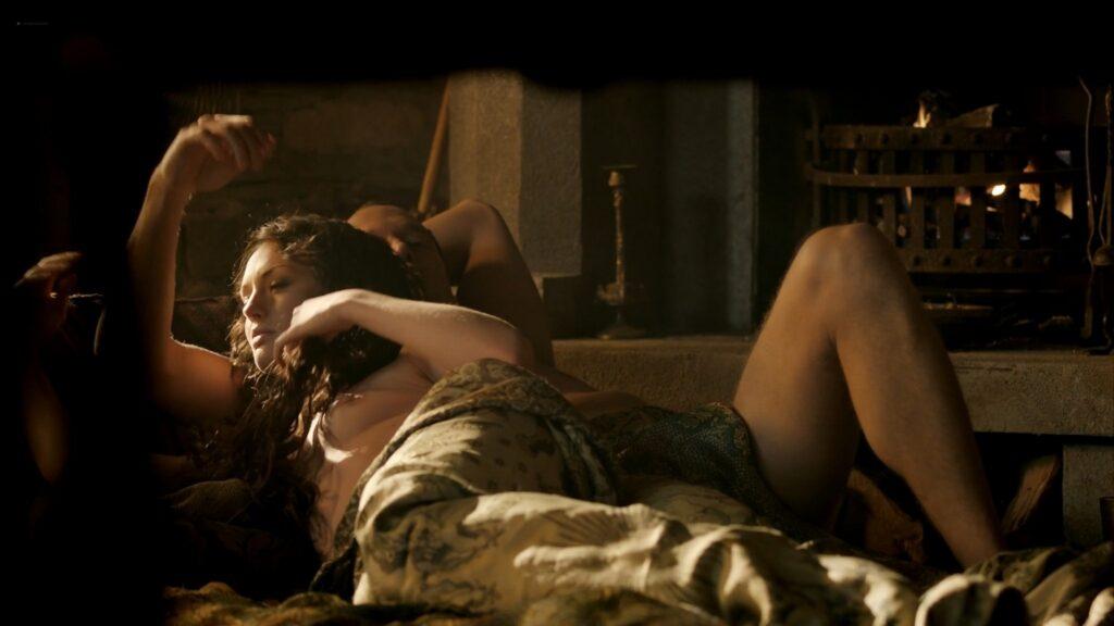Laura Haddock nude full frontal bush and sex Da Vincis Demons 2013 S1 1080p BluRay 9