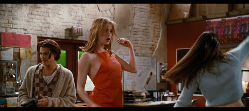 Liv Tyler hot striping to bra and undies and Renee Zellweger hot Empire Records 1995 1080p BluRay REMUX 20