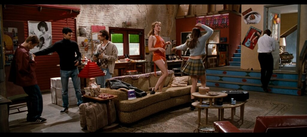 Liv Tyler hot striping to bra and undies and Renee Zellweger hot Empire Records 1995 1080p BluRay REMUX 21