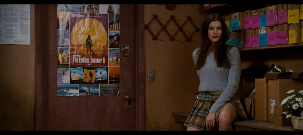 Liv Tyler hot striping to bra and undies and Renee Zellweger hot Empire Records 1995 1080p BluRay REMUX 27