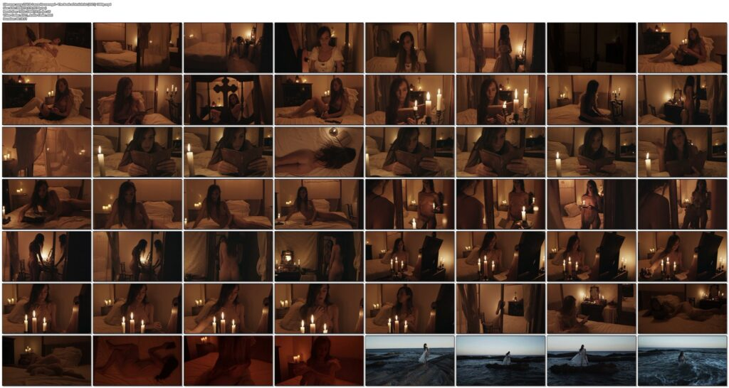 Laura Houvenagel nude full frontal butt and topless The Book of Antichrist 2021 1080p 15
