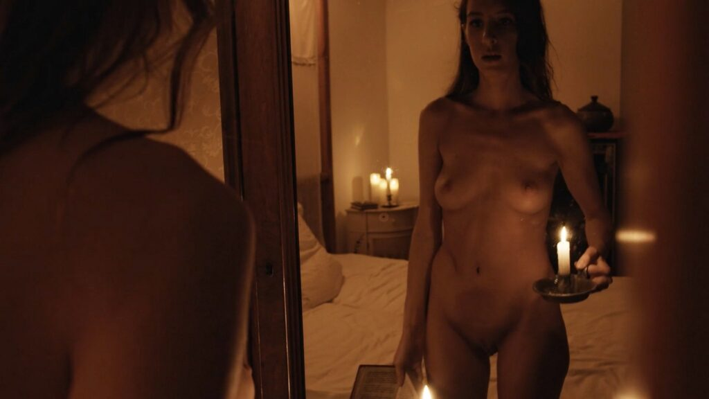 Laura Houvenagel nude full frontal butt and topless The Book of Antichrist 2021 1080p 9