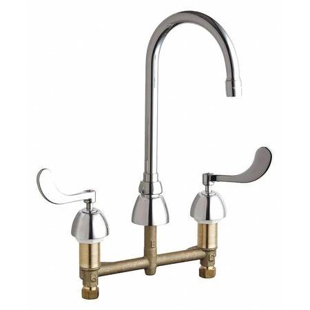 manual 8 mount commercial 3 hole gooseneck kitchen bathroom faucet