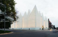 Fachada da nova casa da Filamônica de Szczecin, na Polônia   Foto: Simon Menges/Prêmio de Arquitetura da União Europeia