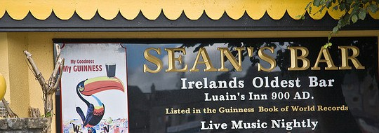 Fundado em 900 ad, o Sean's Bar é o pub mais antigo do mundo