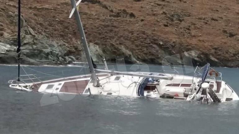 Segelboot sank in Kythnos