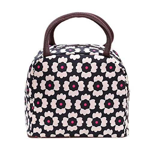 0646586245185 kolylong sac a dejeuner fraicheur thermique isole boite a lunch tote bento pouch lunch container sac isotherme rose noir prune