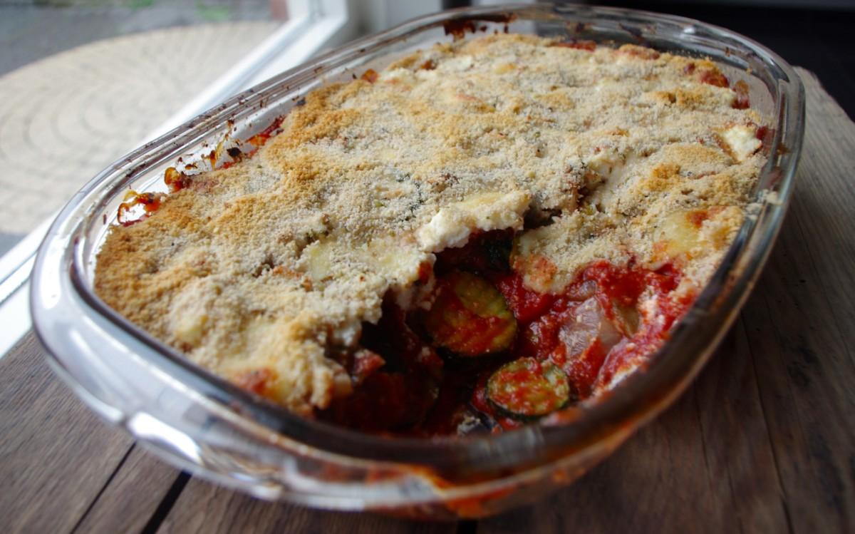 Parmigiana ovenschotel met gegrilde groenten