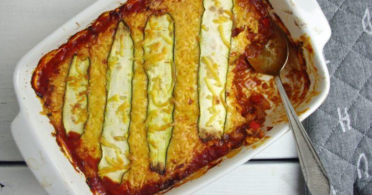 Koolhydraatarme courgette lasagne met tonijn