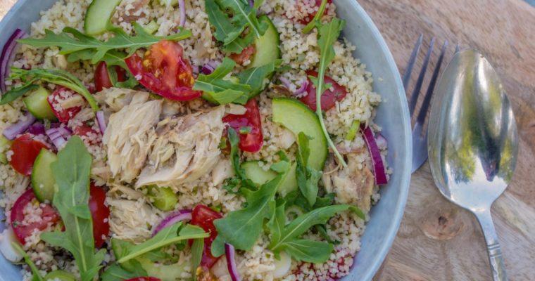 Picknick recept #2: Couscoussalade met makreel