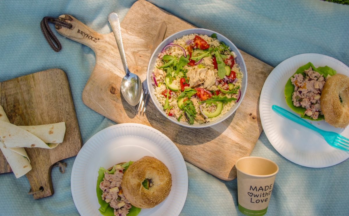 Picknick recept: Wraps & bagels met tonijn