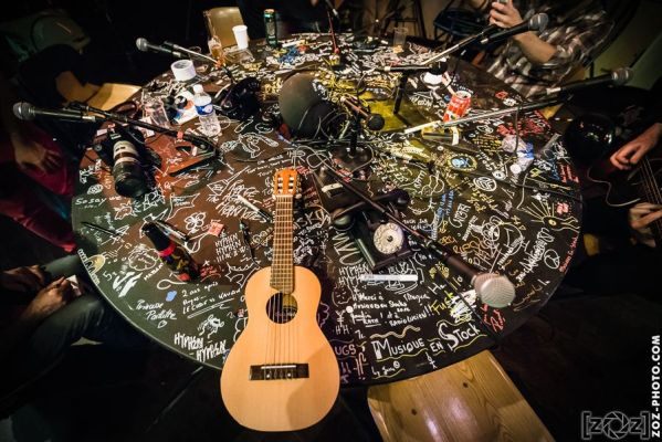 Table Radio Lucien, festival Musiques en stock (Cluses), le 5 juillet 2014.