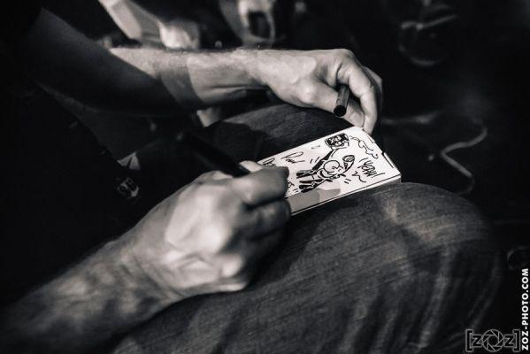 Franck Margerin, dédicace pour Dead Hippies, festival Musiques en stock (Cluses), le 5 juillet 2014.